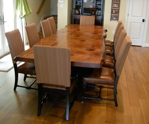 Rustic Dining Table – Live Edge Wood Slabs | Littlebranch Farm Intended For Tree Dining Tables (Image 14 of 25)