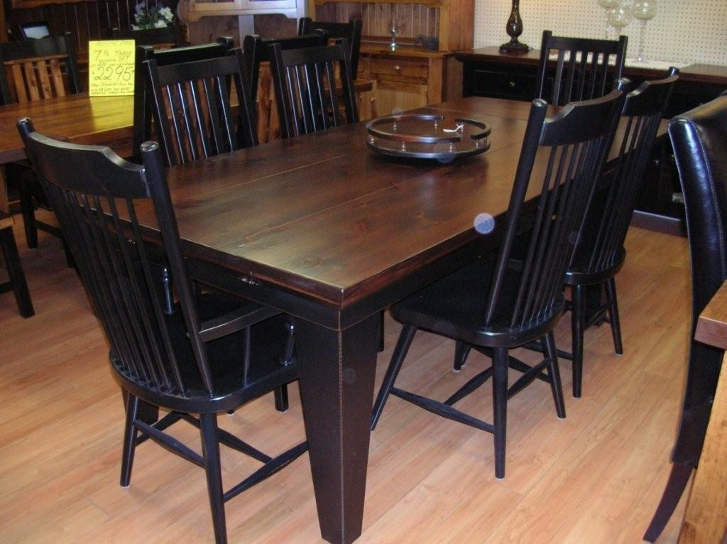 Rustic Dining Table, Rustic Dining Room Tables, Rustic Wood Dining For Black Wood Dining Tables Sets (Image 23 of 25)