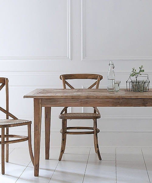 Rustic Elm Parquet Top Table For Parquet Dining Tables (Image 21 of 25)