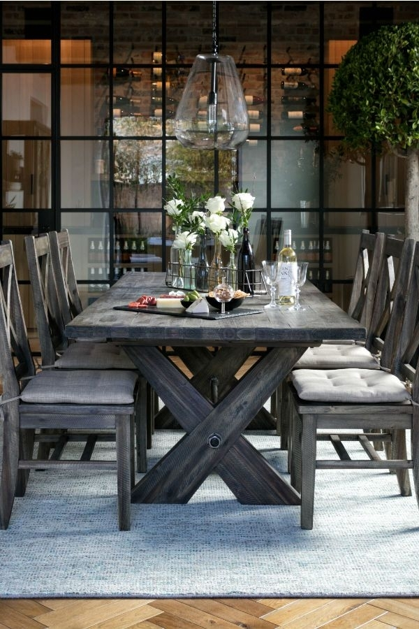 Rustic Extension Dining Table & Chairs (Image 24 of 25)