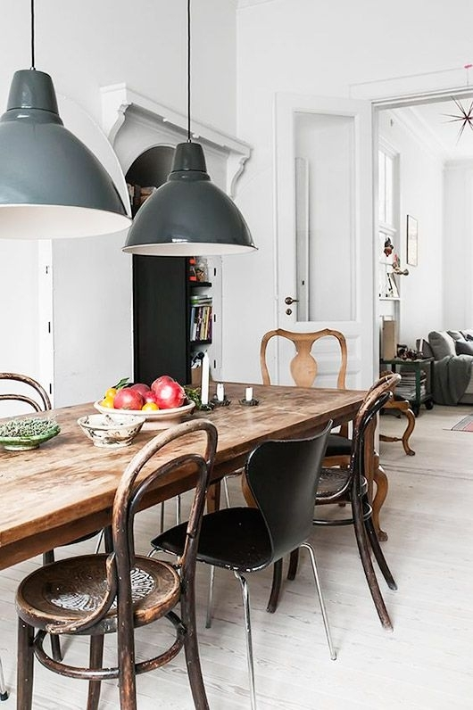 Rustic Modern Table Talk | Kitchen & Dining Room | Pinterest With Regard To Dining Tables Ceiling Lights (Image 22 of 25)