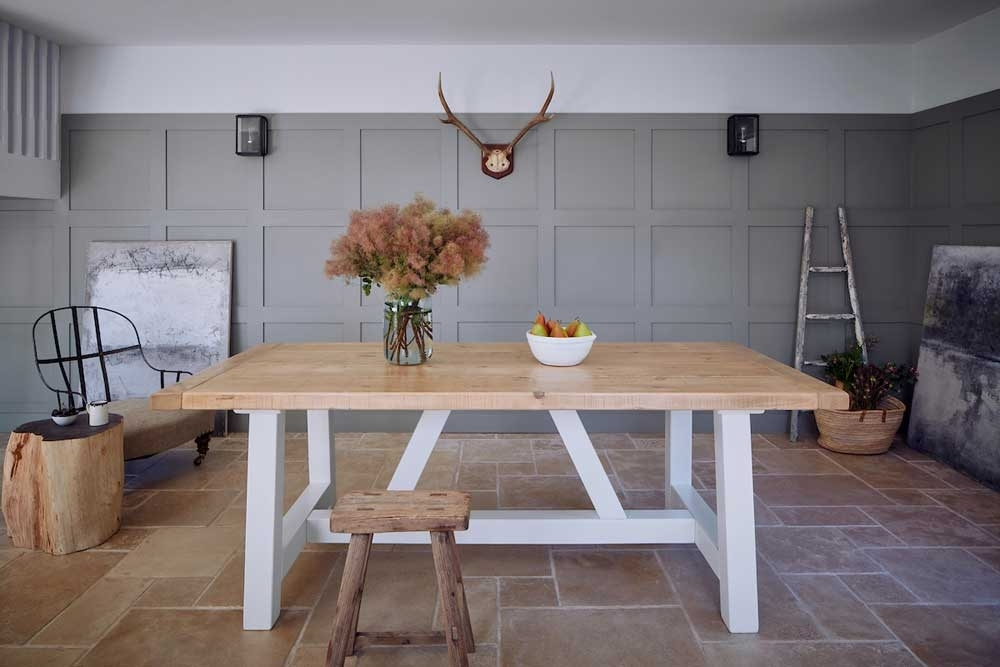 Rustic North American Timber Mill Dining Table | Home Barn With Barn House Dining Tables (Image 20 of 25)