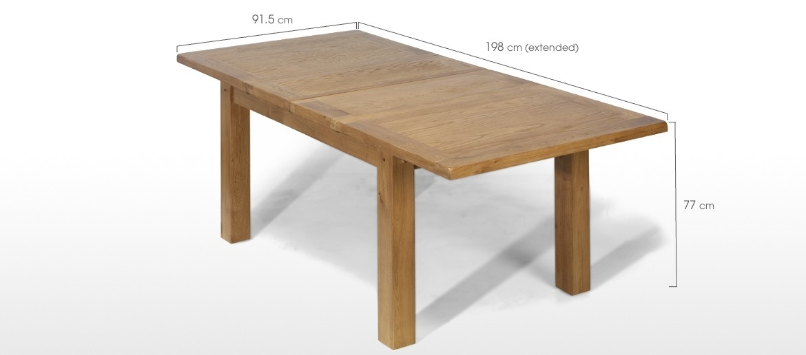 Rustic Oak 132 198 Cm Extending Dining Table And 6 Chairs | Quercus For Solid Oak Dining Tables And 6 Chairs (View 23 of 25)