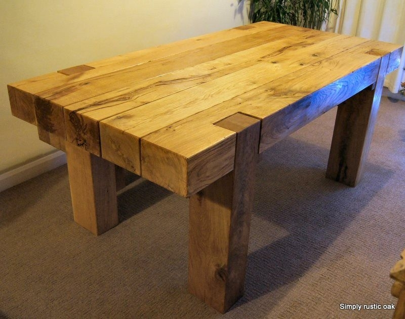 Rustic Oak Dining Tables – Decorenable (View 16 of 25)