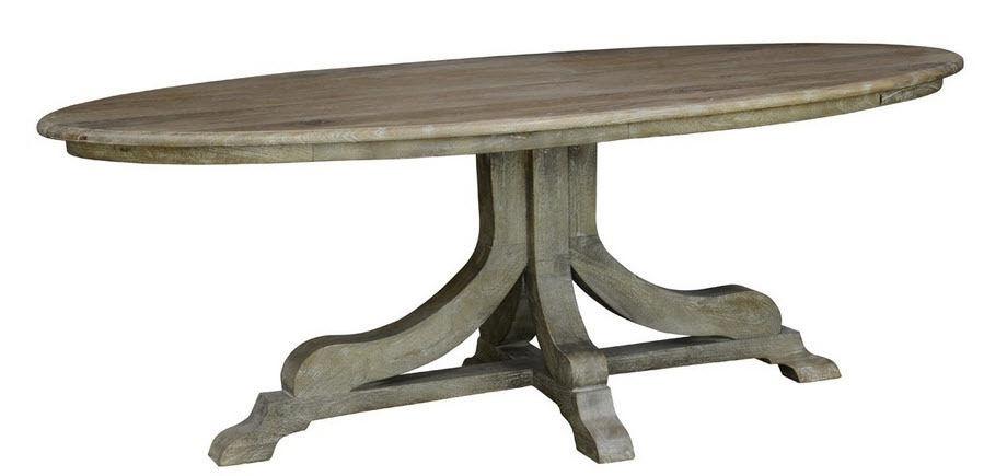 Rustic Oval Dining Table   Aionkinahkaufen Inside Oval Reclaimed Wood Dining Tables (Image 19 of 25)