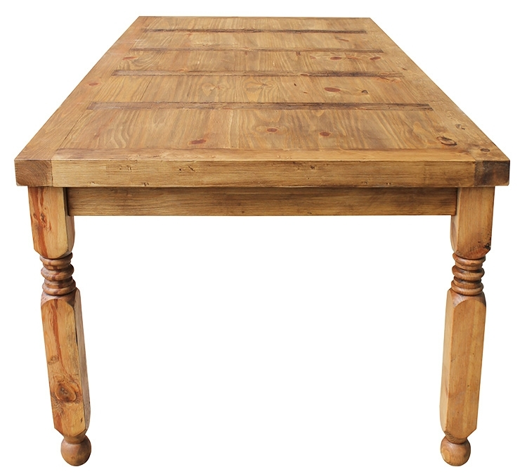 Rustic Pine Collection – Lyon Dining Table – Mes24 Intended For Lyon Dining Tables (Image 23 of 25)
