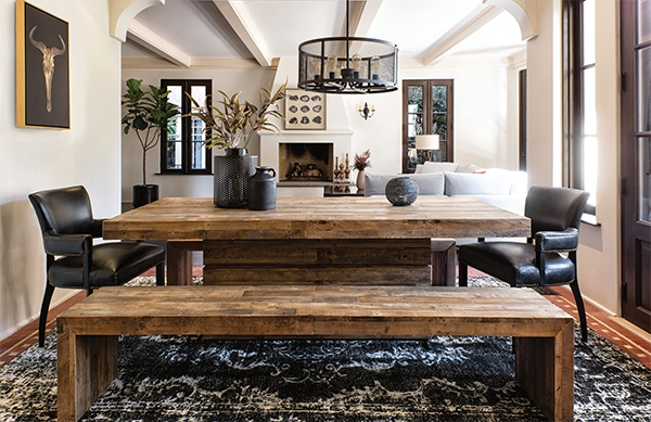 Rustic + Refined = Villa Sonoma – Living Spaces Email Archive Pertaining To Chandler 7 Piece Extension Dining Sets With Fabric Side Chairs (Image 18 of 25)