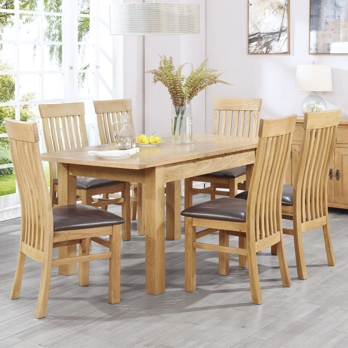 Rustic Saxon Extending Oak Dining Oak Dining Table 6 Chairs Awesome For Oak Dining Tables And Chairs (View 13 of 25)