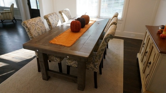 Rustic Slate Gray The Clayton Rustic Farm Dining Table – Rustic Inside Rustic Dining Tables (View 7 of 25)