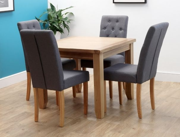 Rustic Square Oak Dining Table 90Cm X 90Cm For Square Oak Dining Tables (Image 15 of 25)