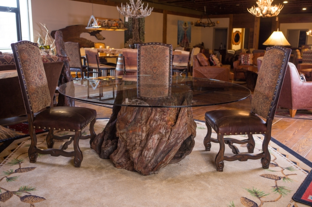 Rustic Table | Live Edge Table | Wood Table | Littlebranch Farm For Tree Dining Tables (Image 15 of 25)