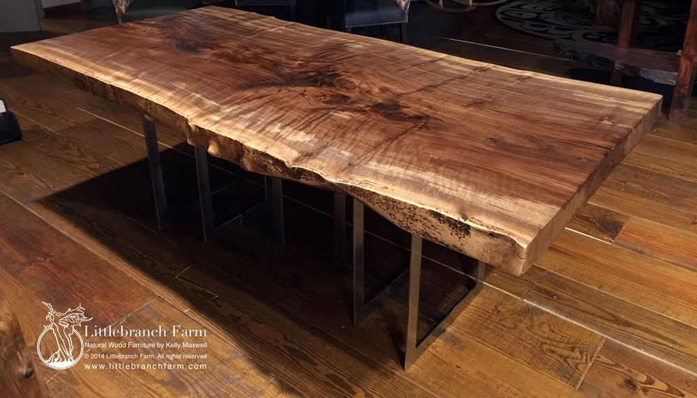 Rustic Table | Live Edge Table | Wood Table | Littlebranch Farm Inside Tree Dining Tables (Image 16 of 25)