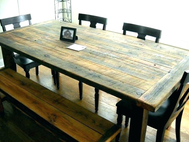 Rustic Wood Dining Room Table Sets Furniture Wooden Alluring T Round Pertaining To Oval Reclaimed Wood Dining Tables (Image 22 of 25)