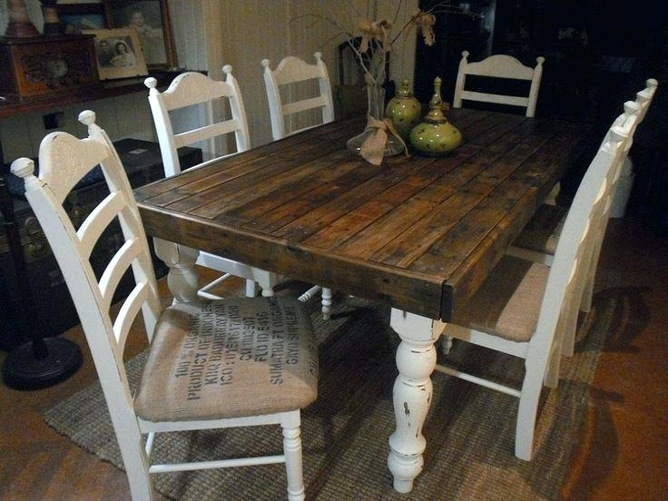 Rustic Wood Dining Table – Canaandogs Within Barn House Dining Tables (View 22 of 25)