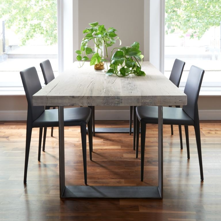 Rustik Dining Table From Stock Pertaining To Dining Tables With White Legs (View 9 of 25)