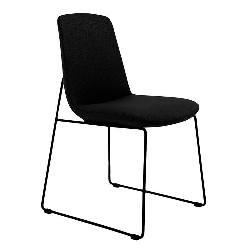 Ruth Modern Dining Chair Black – (Set Of 2) Intended For Black Dining Chairs (Image 17 of 25)