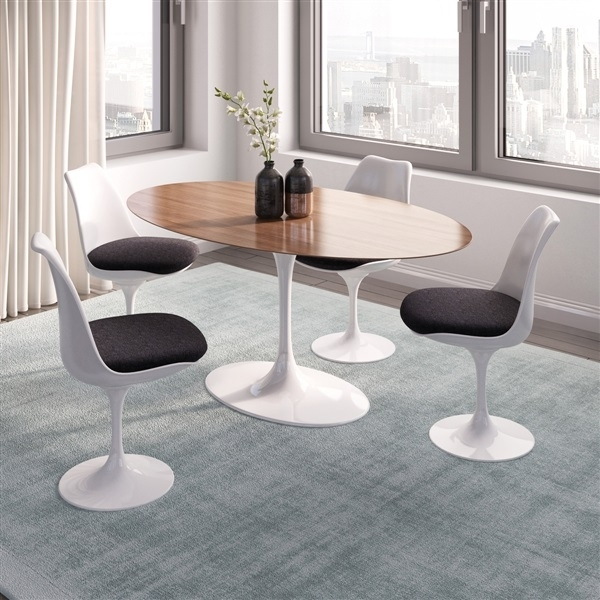 Saarinen Tulip Oval Dining Table Regarding Portland 78 Inch Dining Tables (Image 19 of 25)