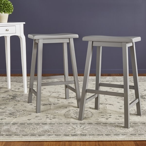 Saddle Bar Stool Cushion | Wayfair Inside Valencia 4 Piece Counter Sets With Bench & Counterstool (Image 16 of 25)