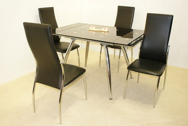 Sale On Madrid Small Extending Dining Table With 4 Chairs | Online Regarding Small Extending Dining Tables And 4 Chairs (Image 12 of 25)