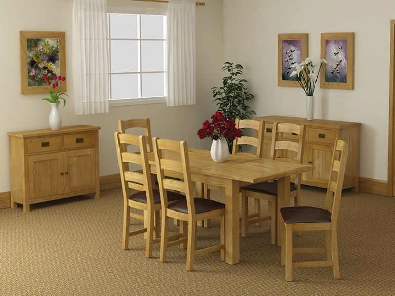 Salisbury Oak Compact Extending Dining Table – Furniture Barn Within Oak Dining Suite (Image 19 of 25)