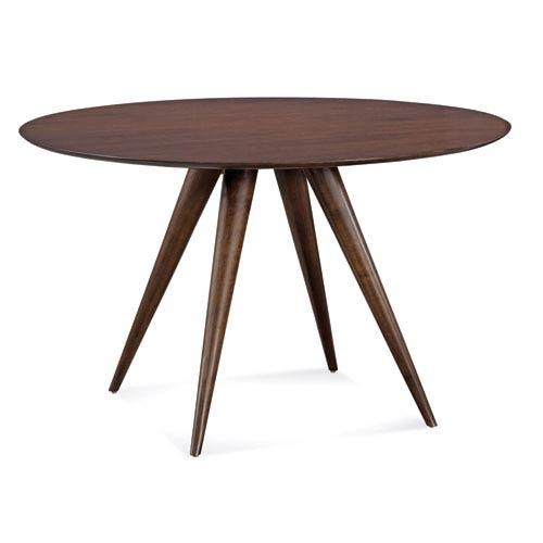 Saloom Furniture Iris 48 Inch Java Round Dining Table Scwo 4848 Irs Regarding Java Dining Tables (Image 20 of 25)