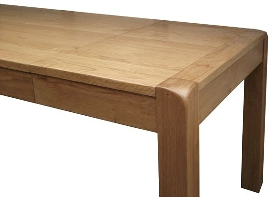 Saltash Oak 140Cm 180Cm Small Extending Dining Table Throughout Extending Oak Dining Tables (View 6 of 25)