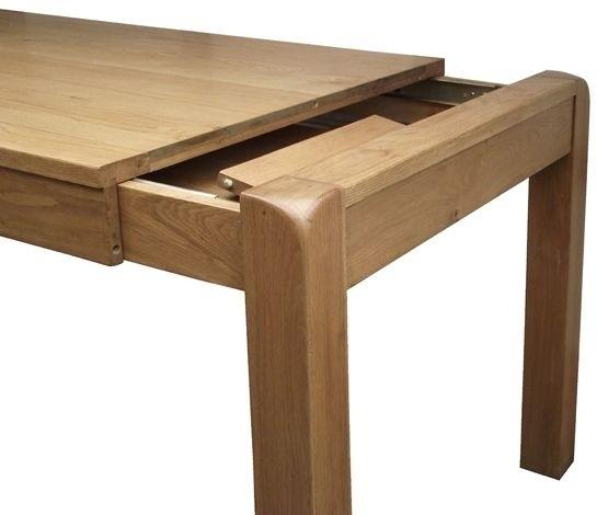 Saltash Oak 140Cm 180Cm Small Extending Dining Table Throughout Small Extending Dining Tables (Image 17 of 25)