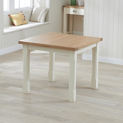 Sandiego Oak And Cream 90Cm Extending Dining Table – Robson Furniture Regarding Cream And Oak Dining Tables (View 5 of 25)