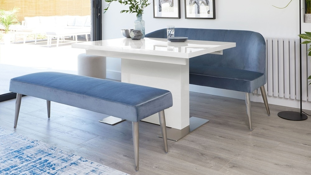 Sanza Small Extending White Gloss Dining Table | Uk With Regard To Small White Dining Tables (View 20 of 25)