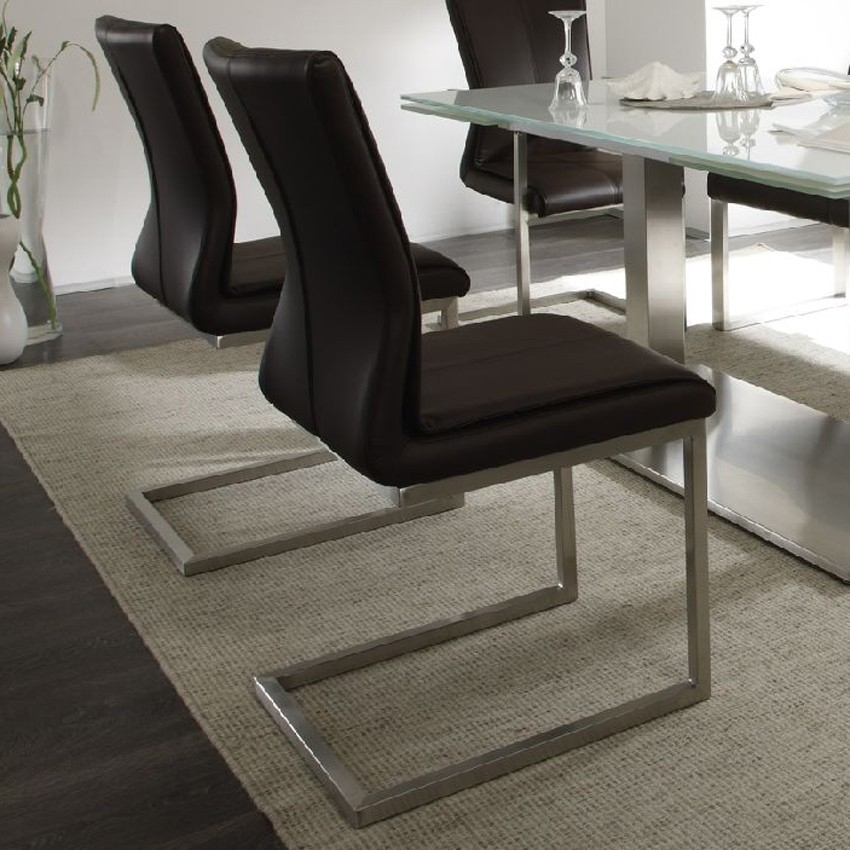 Sara Real Leather Dining Chair | Tr Hayes – Furniture Store, Bath Within Real Leather Dining Chairs (Image 18 of 25)