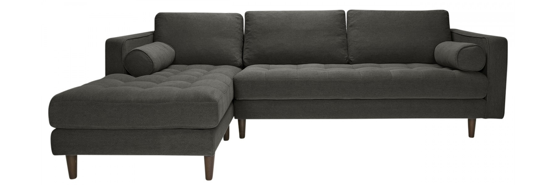 Sawyer Laf Sectional Stoned Slate Regarding Harper Foam 3 Piece Sectionals With Raf Chaise (View 22 of 25)