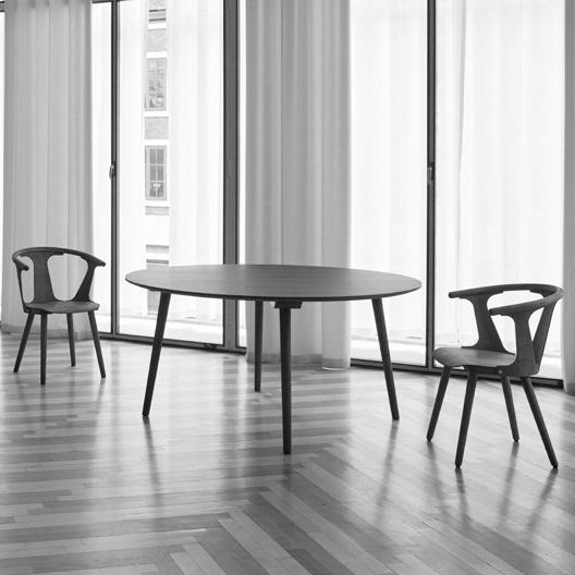 Scandinavian Design Dining Table / Oak / Round – In Between Sk4 Pertaining To Lassen Round Dining Tables (Image 22 of 25)