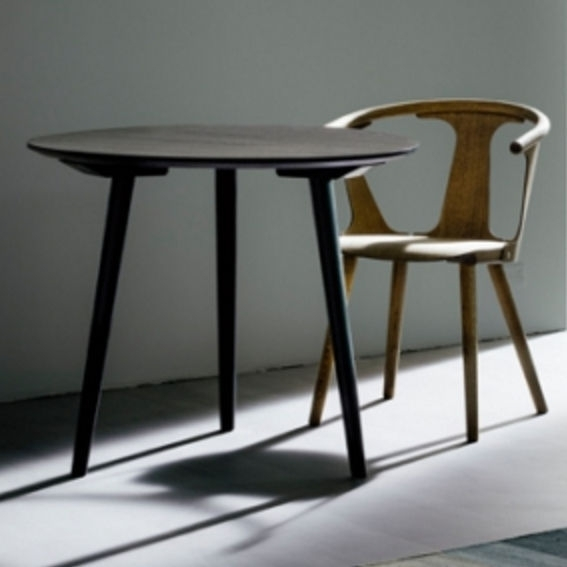 Scandinavian Design Dining Table / Wooden / Round – In Between Sk3 In Lassen Round Dining Tables (Image 23 of 25)