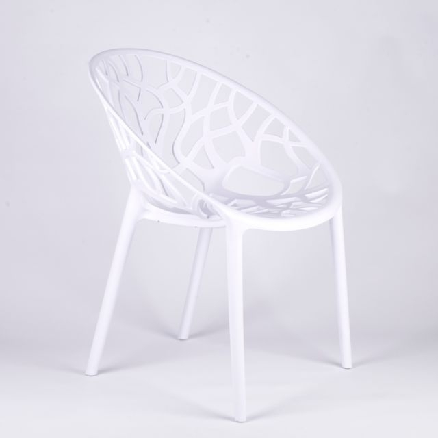 Scandinavian Modern Twigs Branches White Dining Chair Garden Cafe Pertaining To White Dining Chairs (Image 22 of 25)