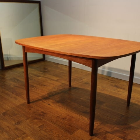Scarce G Plan 1960S Teak Extending Dining Table With Removeable Legs Regarding Retro Extending Dining Tables (Image 20 of 25)