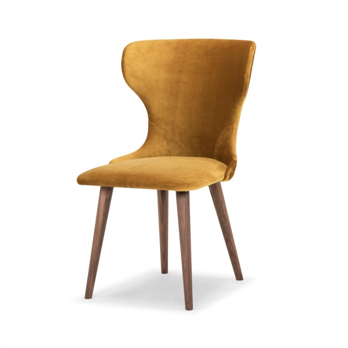 Scoop Mustard Velvet Dining Chair – Me And My Trend Regarding Velvet Dining Chairs (Image 20 of 25)