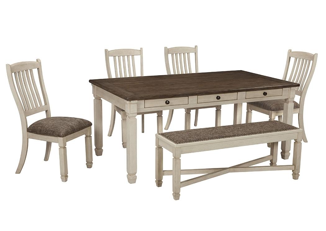 Scott's Furniture Bolanburg Antique White Rectangular Dining Room Pertaining To Rectangular Dining Tables Sets (Image 21 of 25)