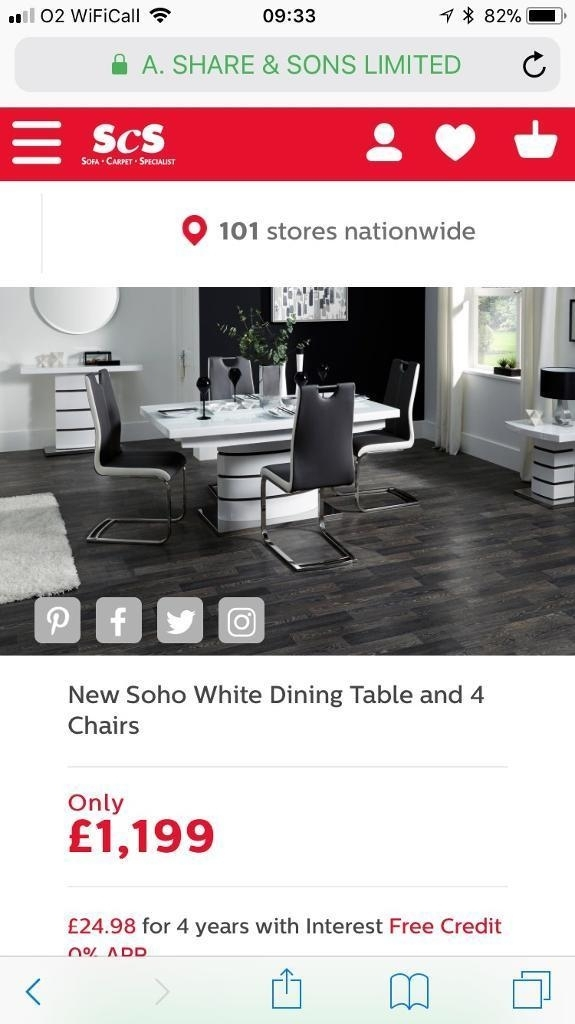 Scs Extending Dining Table And 6 Chairs   In Stockton Heath Pertaining To Scs Dining Furniture (View 24 of 25)