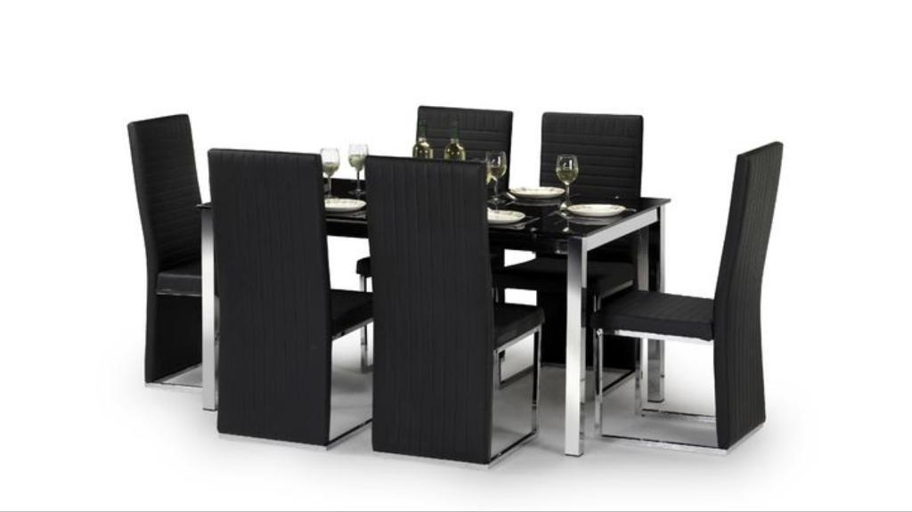 Scs Glass Dining Table And 6 Chairs *price Dropped* | In Falkirk In Scs Dining Room Furniture (View 6 of 25)