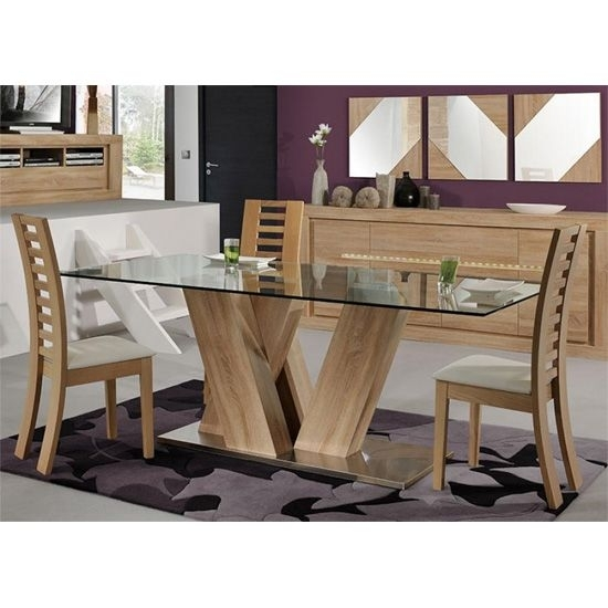 Season Glass Top 6 Seater Dining Table With Season Chairs Pertaining To 6 Seater Dining Tables (Image 22 of 25)