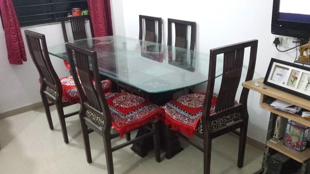 Seater Dining Table Glass 【 Offers November 】 | Clasf Pertaining To Glass 6 Seater Dining Tables (Image 24 of 25)