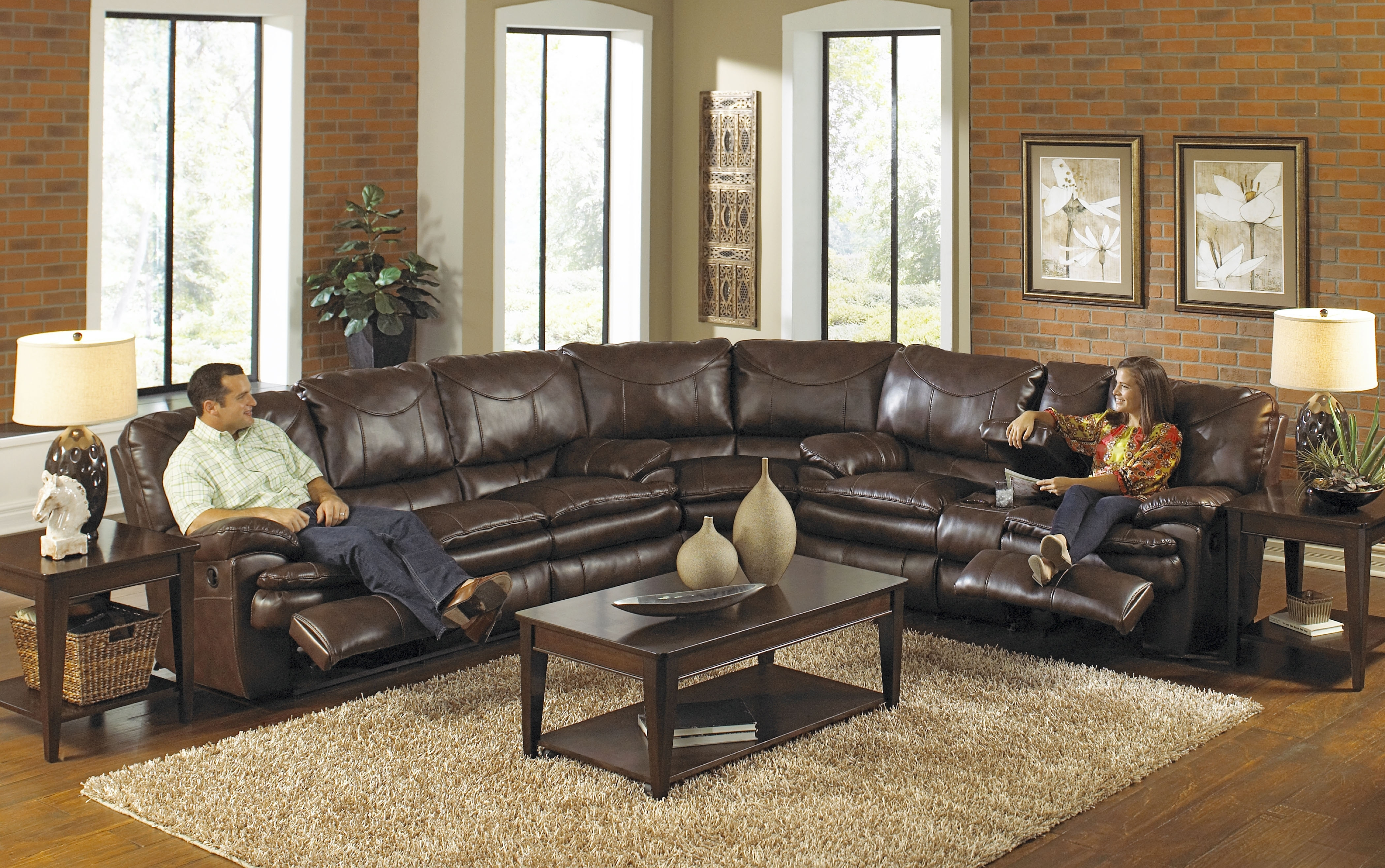 Seating Furniture – Sectional Reclining Sofa – Pickndecor Intended For Jackson 6 Piece Power Reclining Sectionals With  Sleeper (Image 20 of 25)