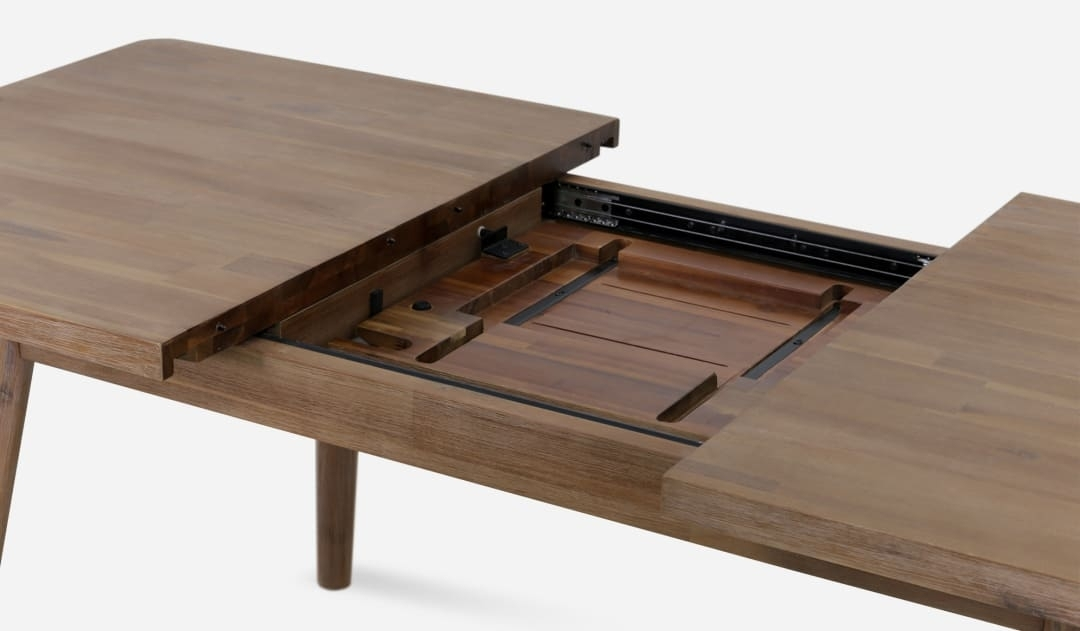 Seb Extendable Dining Table | Castlery Singapore Within Extendable Dining Sets (Image 24 of 25)