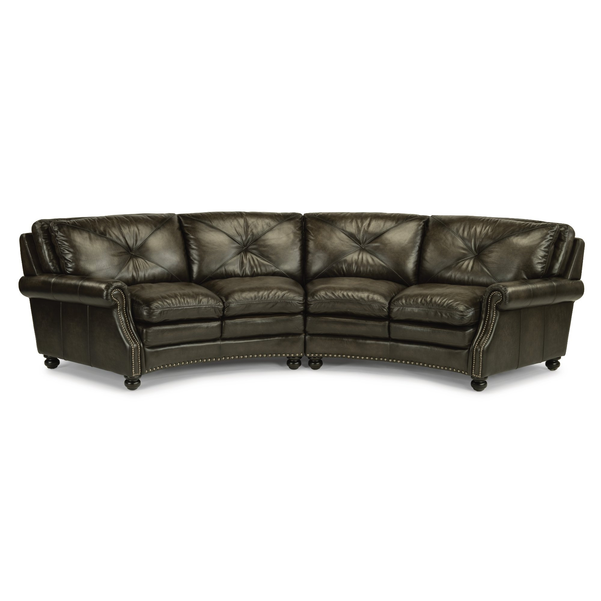 Sectional Sofa Dark Grey | Baci Living Room With Regard To Tatum Dark Grey 2 Piece Sectionals With Laf Chaise (Image 15 of 25)