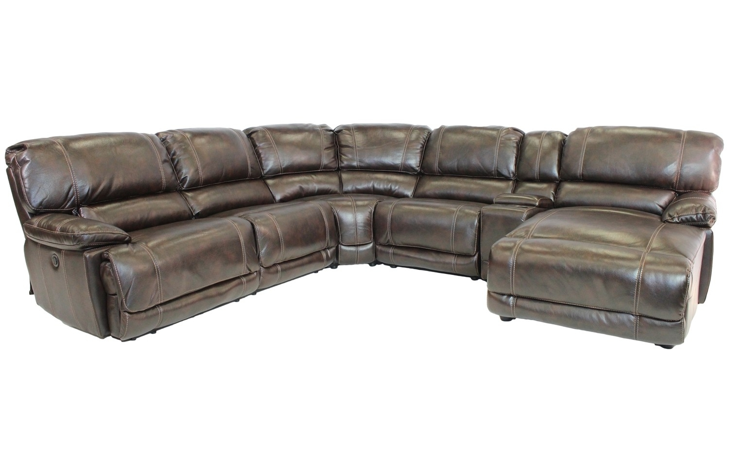 Sectional Sofas | Save Mor Online And In Store Regarding Marcus Chocolate 6 Piece Sectionals With Power Headrest And Usb (Image 20 of 25)
