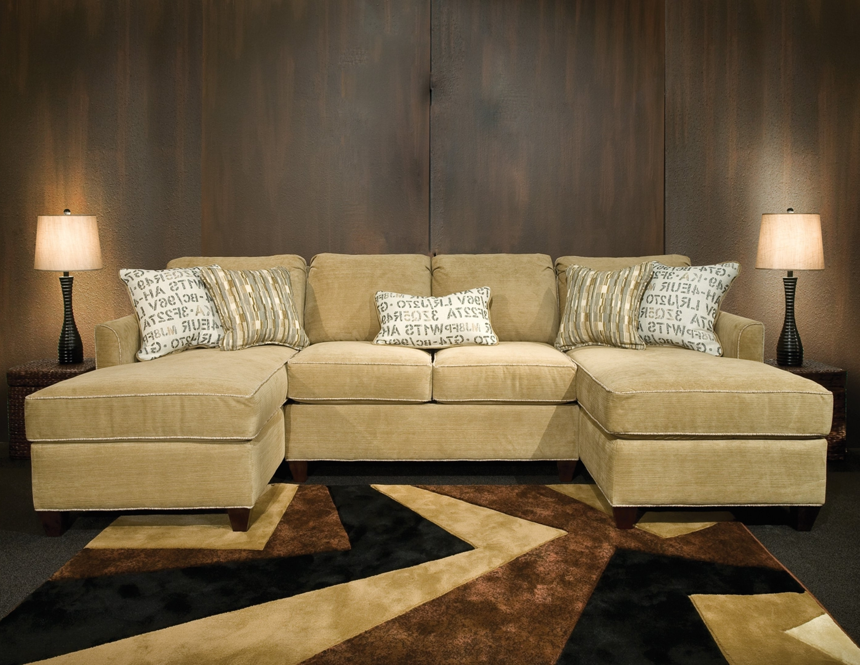 Sectional With 2 Chaises - Tidex intended for Tenny Cognac 2 Piece Right Facing Chaise Sectionals With 2 Headrest