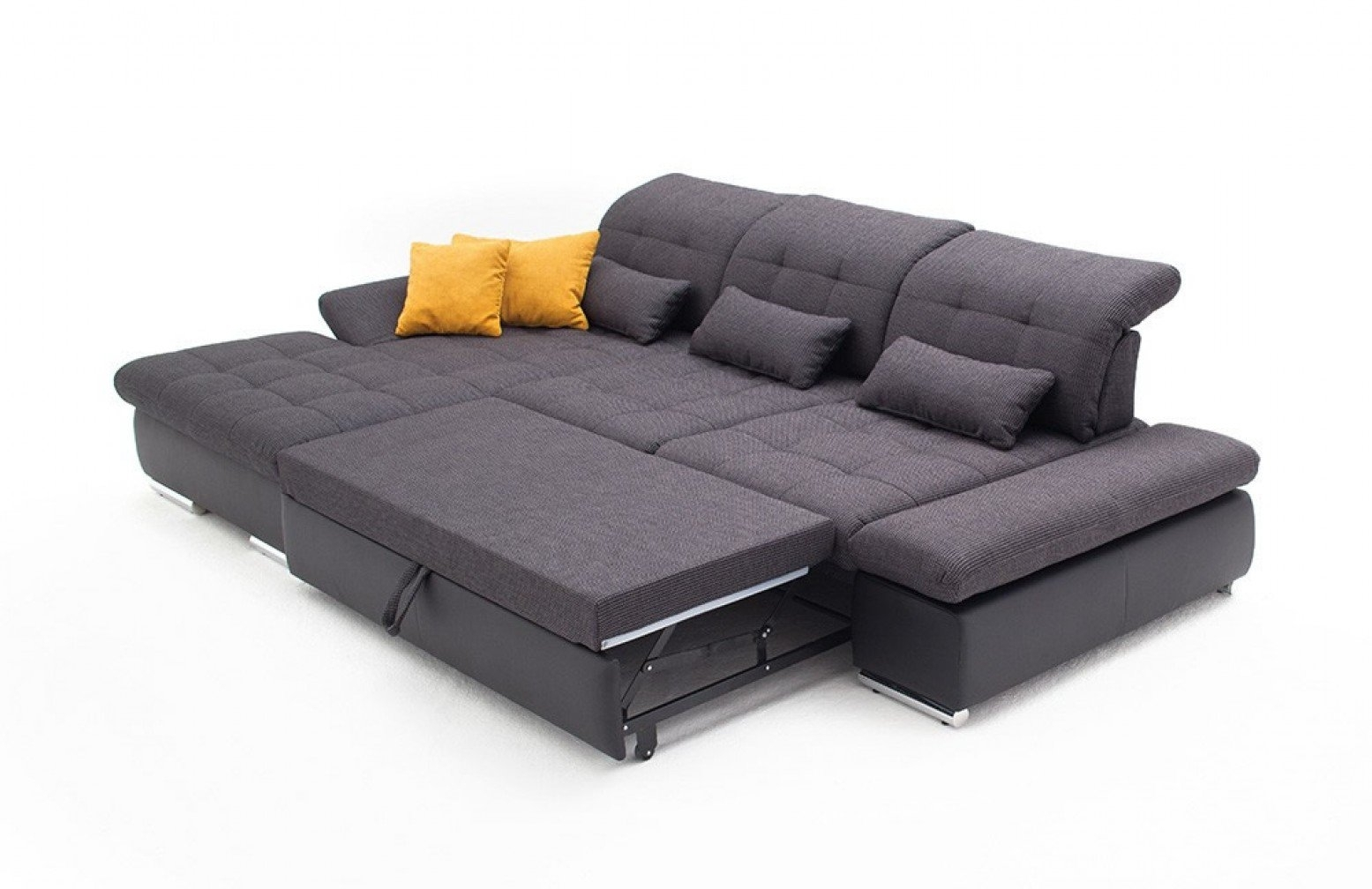 Sectional With Sleeper Sofa – Home Decor 88 Pertaining To Arrowmask 2 Piece Sectionals With Laf Chaise (Image 22 of 25)