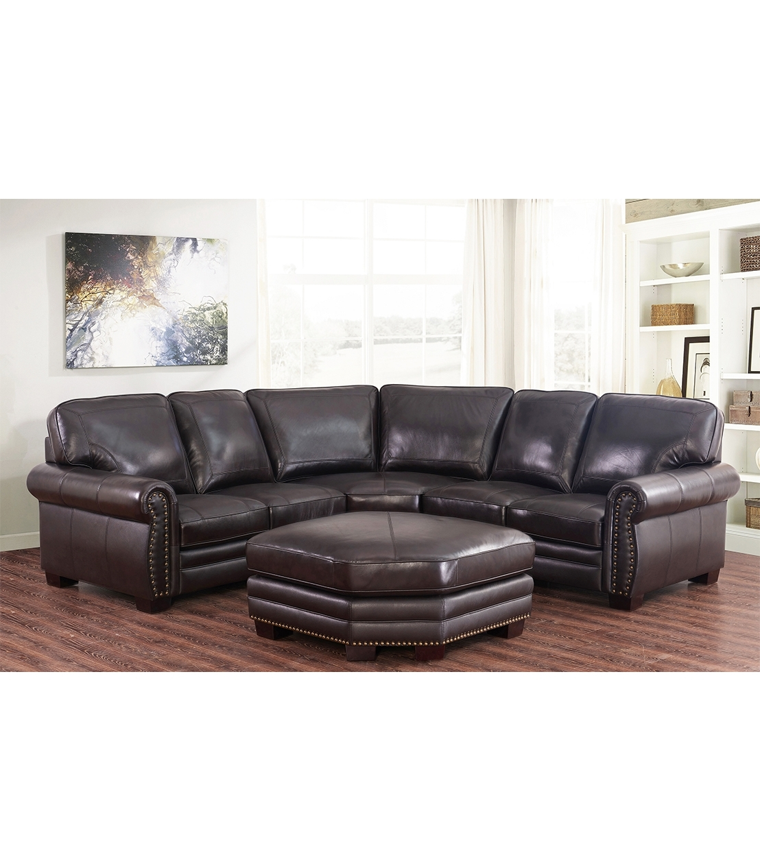 Sectionals : Adeline Leather Sectional In Adeline 3 Piece Sectionals (Image 20 of 25)