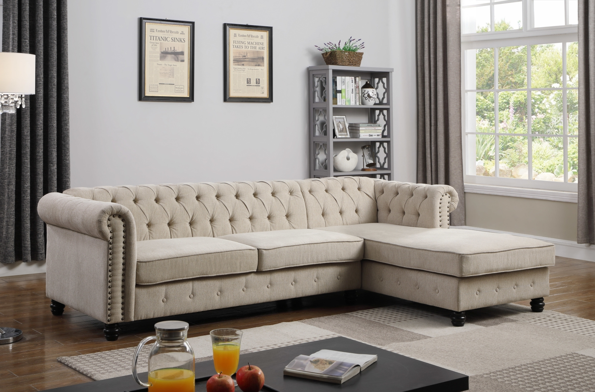 Sectionals - Hello Furniture throughout Gordon 3 Piece Sectionals With Raf Chaise