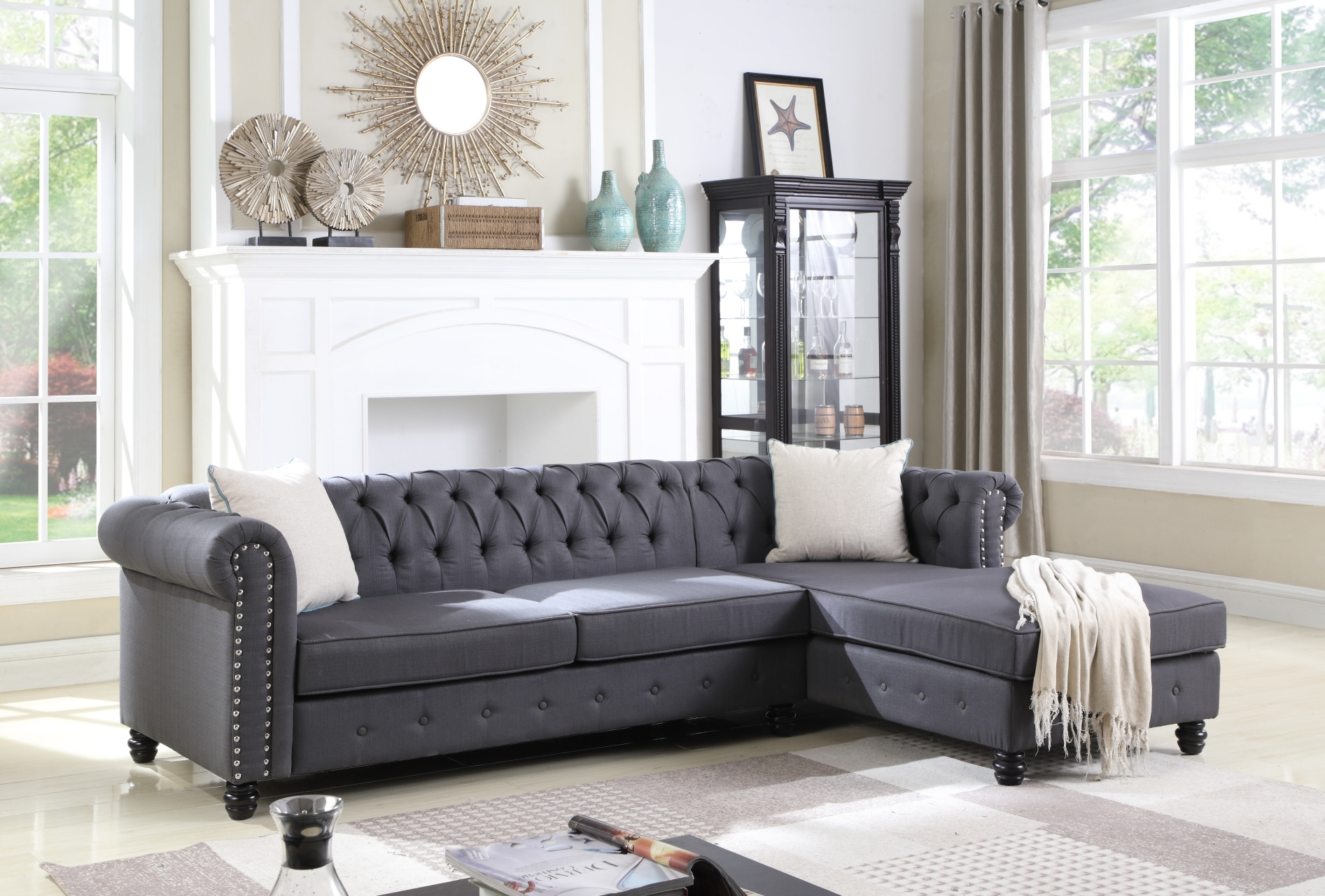 Sectionals – Hello Furniture With Gordon 3 Piece Sectionals With Raf Chaise (Image 23 of 25)